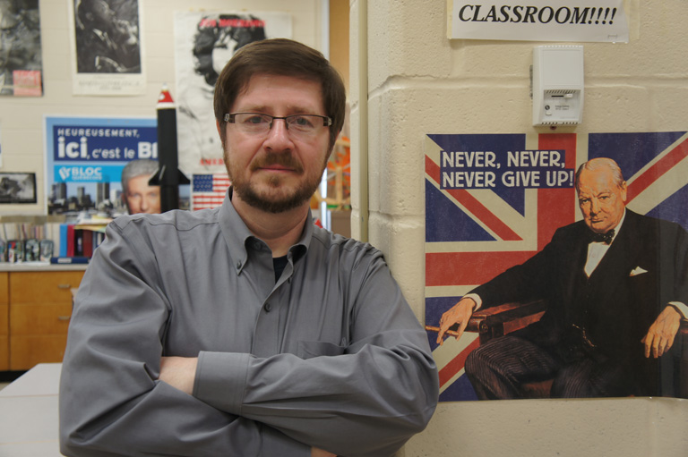 Neil Orford, recipient of the 2013 Governor General's History Award for Excellence in Teaching