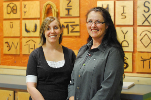 Alison England and Karen Wight, recipients of the 2009 Governor General's Award for Excellence in Teaching Canadian History