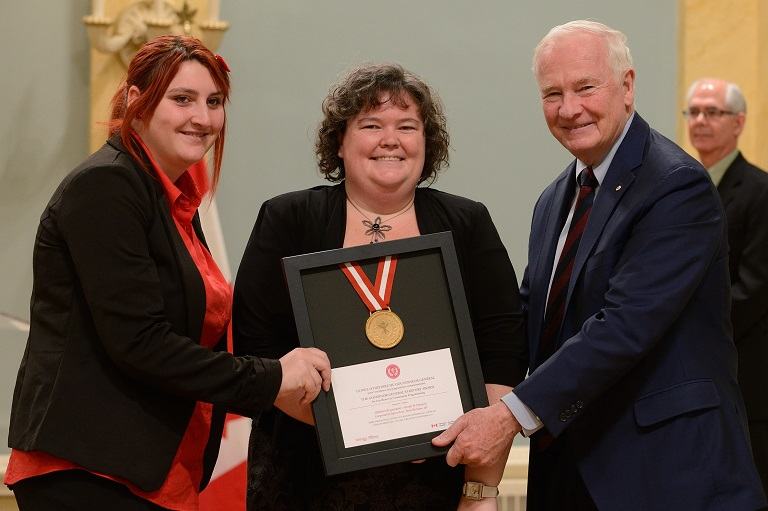 The Spect-Arts Corporation accepting their award at Rideau Hall, 2013.