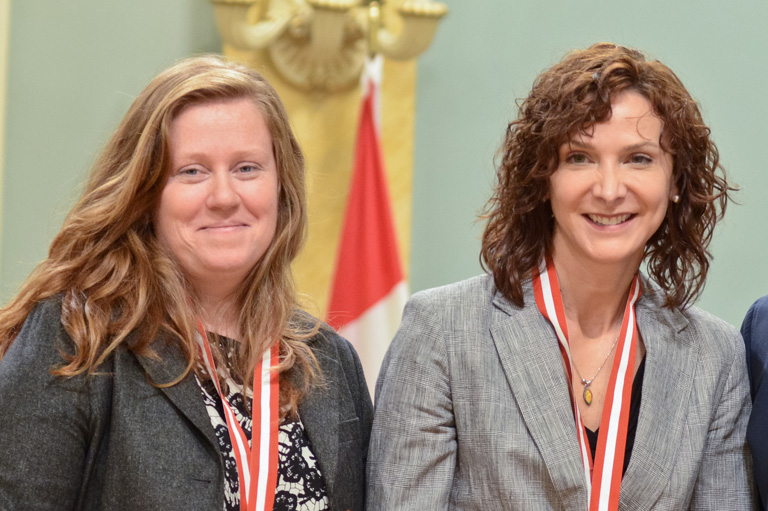 Romy Cooper and Graeme Cotton, recipients of the 2013 Governor General's History Award for Excellence in Teaching