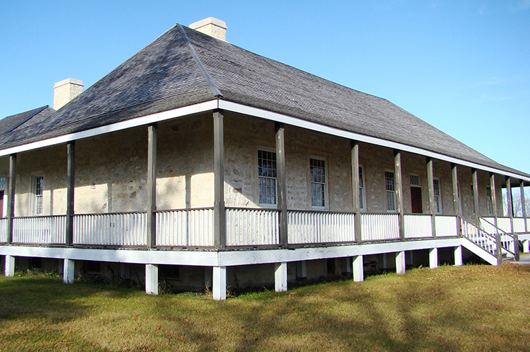 This is an image of Lower Fort Garry Historic Site in Manitoba.