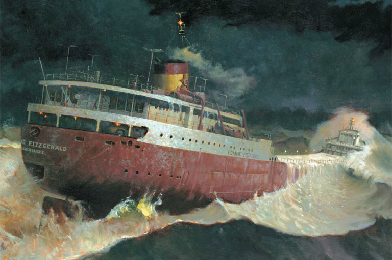 Painting of the Edmund Fitzgerald / courtesy of ShipwreckMuseum.com