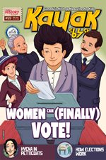Kayak cover of the February 2016 issue - Women can (finally) vote!