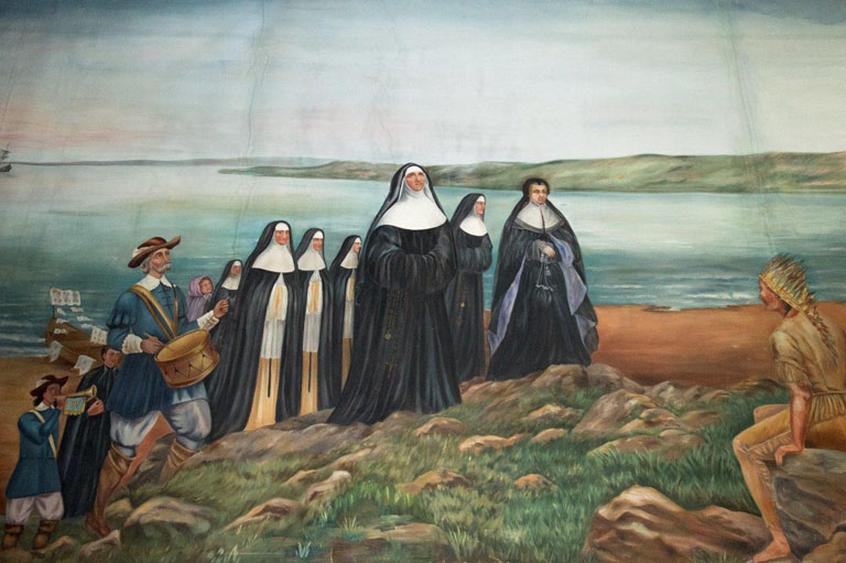 Painting of the arrival of the Ursulines