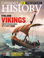 Canada's History cover of February-March 2018 issue featuring Vikings