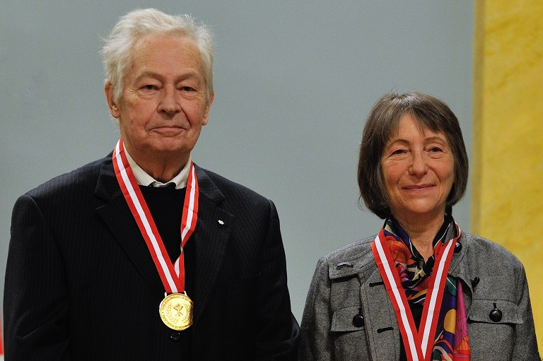 François-Marc Gagnon and Nancy Senior, two of the recipients of the 2012 Governor General's History Award for Scholarly Research: The Sir John A. Macdonald Prize