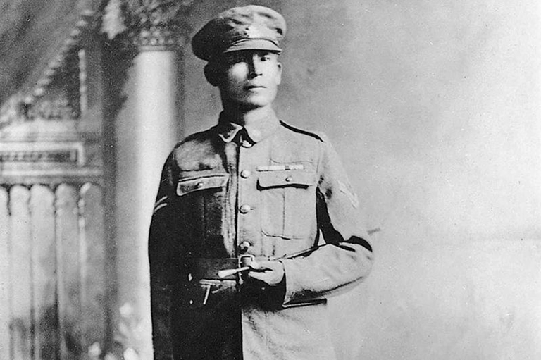 This is an image of Francis Pegahmagabow.