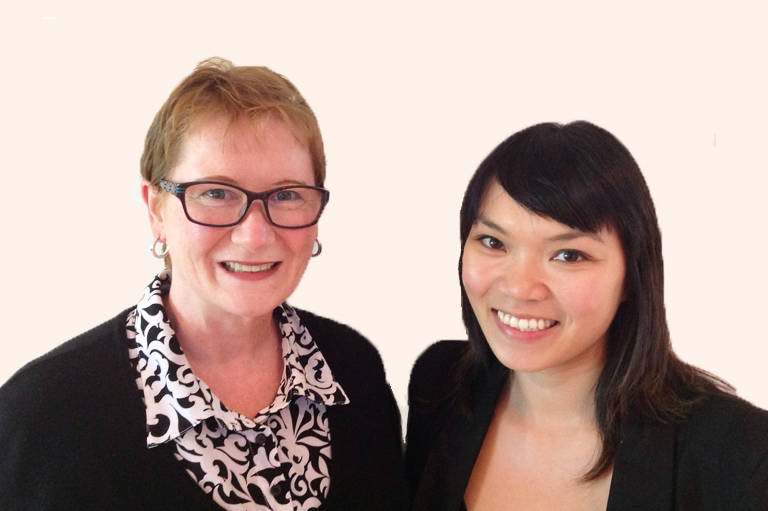 Laurie Cassie and Sharon Moy, recipients of the 2014 Governor General's History Award for Excellence in Teaching