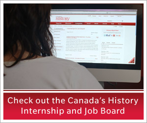 Internship and job postings for students and history professionals.
