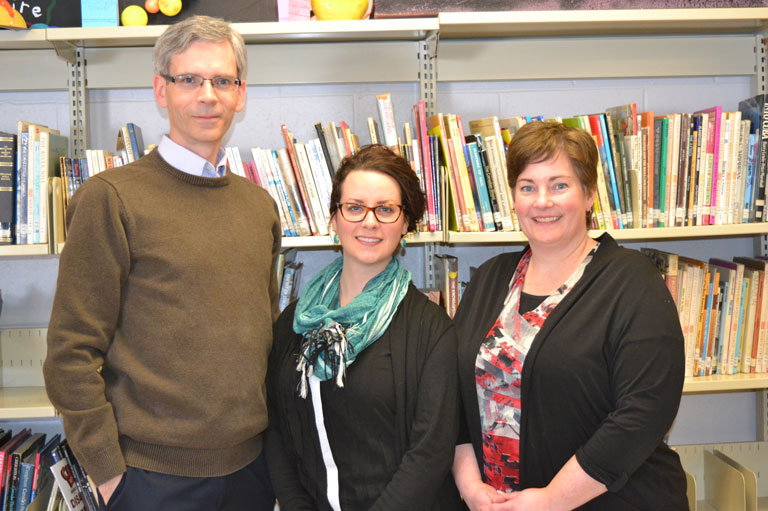 Brian Clancy, Lisa Sheppard, and Catherine Morneault, Recipients of the 2016 Governor General's History Award for Excellence in Teaching