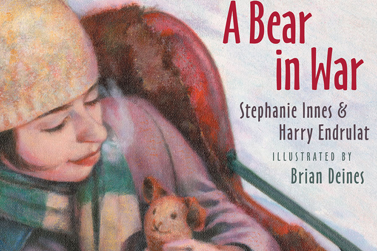 This image shows a partial cover of A Bear in War by Stephanie Innes and Harry Endrulat.