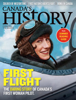 Canada's History cover of June-July 2018 issue featuring Eileen Vollick