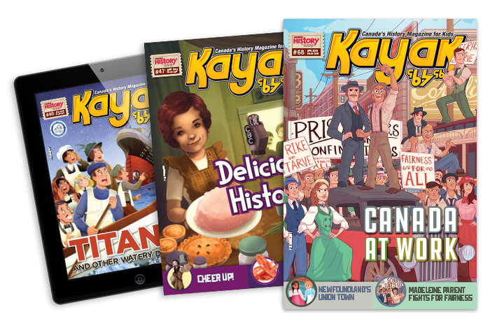 Covers of Kayak in print and on mobile device