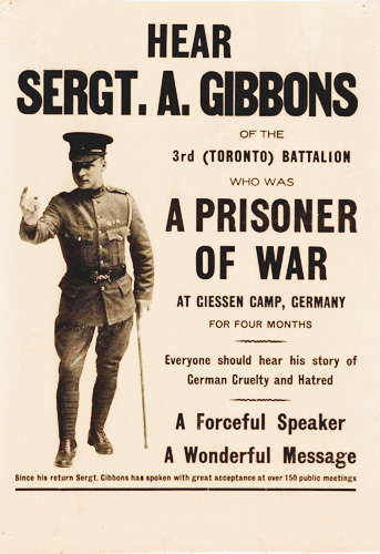 Poster includes photo of Sergt. Gibbons