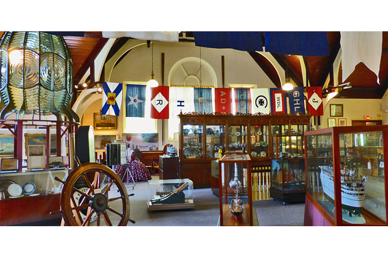This image shows the interior of the Yarmouth Country Museum