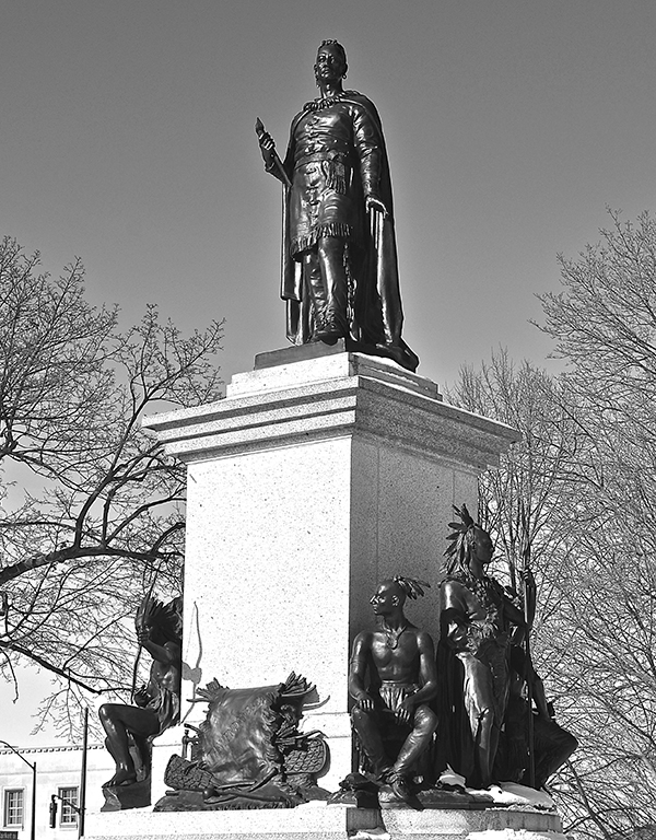 a063a359fd The monument and statue honouring Chief Joseph Brant at Brantford