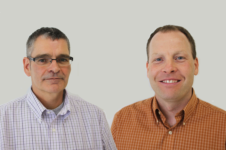 David Alexander and Ryan McManaman, recipients of the 2014 Governor General's History Award for Excellence in Teaching