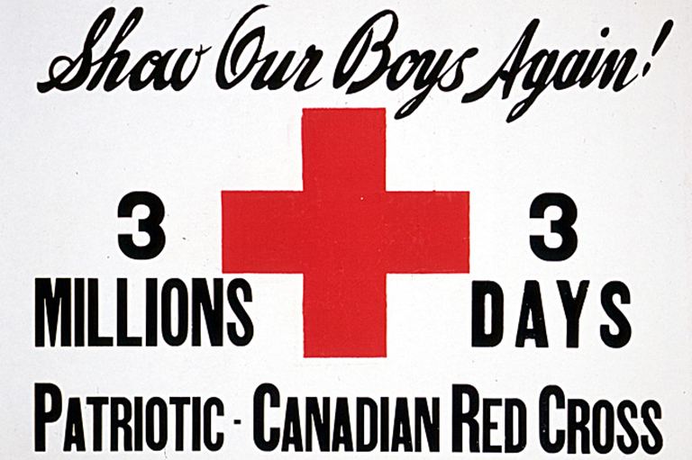 This is an image of a poster promoting the Canadian Patriotic Fund.
