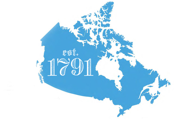 Illustration of a map of Canada