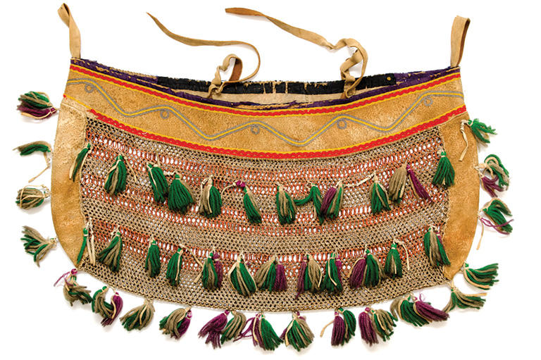 A bag with tassels
