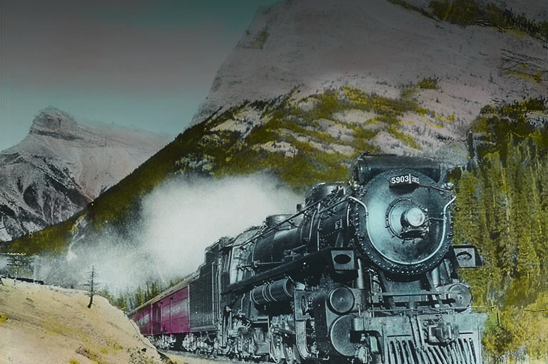 20c31a08b31 Locomotive No. 5903 at the entrance to the Rocky Mountains in Alberta