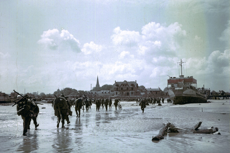 Canadian landings at Juno Beach.