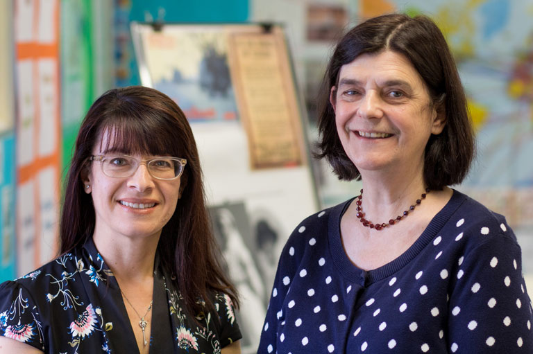 Rita Gravina and Catherine Pfaff, Recipients of the 2016 Governor General's History Award for Excellence in Teaching.