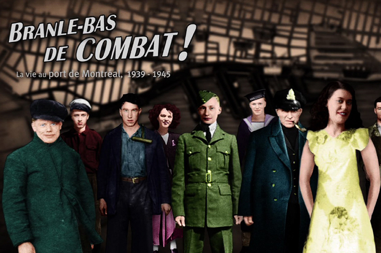 Snapshot from the multimedia project, Branle-bas de combat! created by the Montréal Science Centre