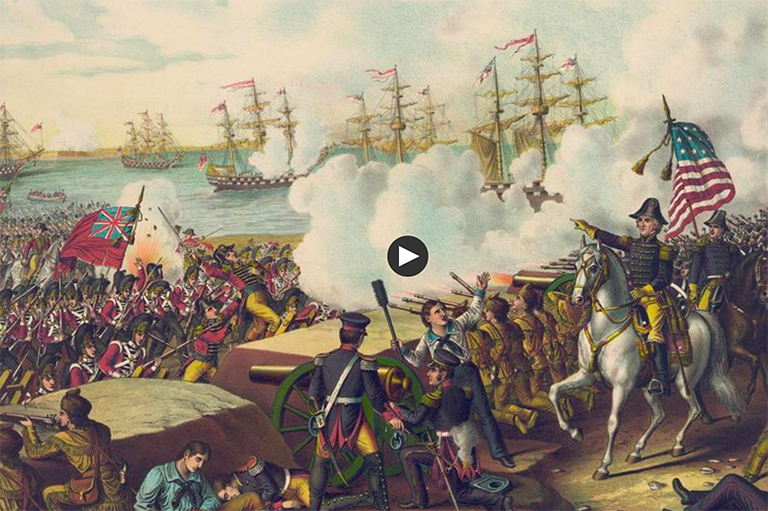 This image shows a scene from The War of 1812 Documentary