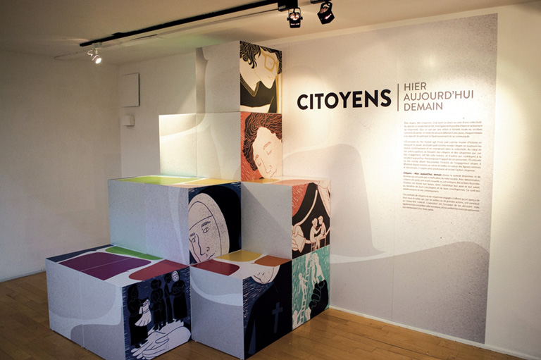 "The ""Citoyens"" exhibition at the Écomusée du fier monde."