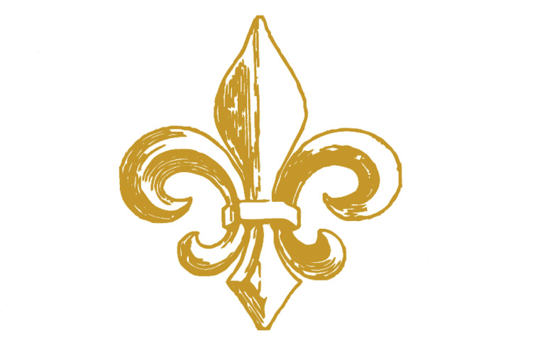 Illustration of a gold fleur-de-lis