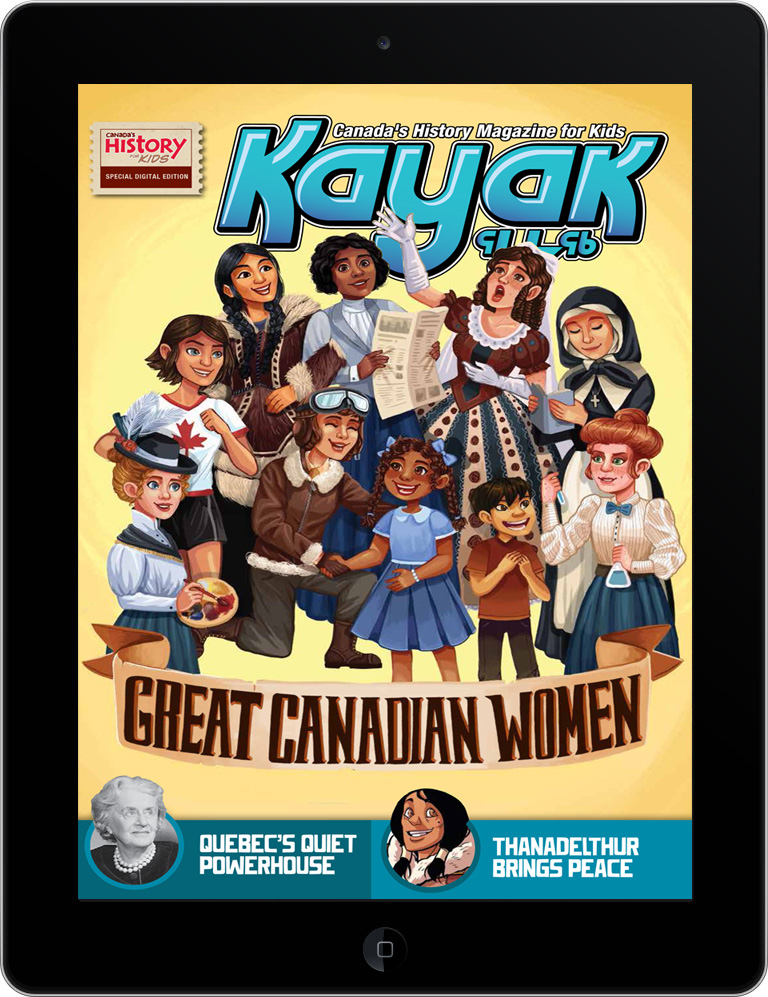 Cover of Kayak Great Women of Canada issue