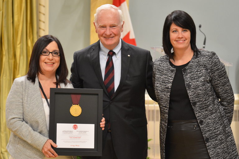 The Musée de la Gaspésie accepting their award at Rideau Hall, Ottawa, 2015.