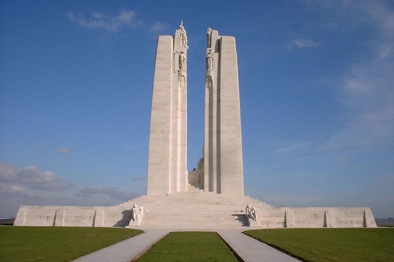 This is an image of The Canadian National Vimy Memorial in France